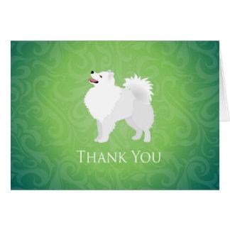Perro esquimal americano - gracias tarjeta de felicitación