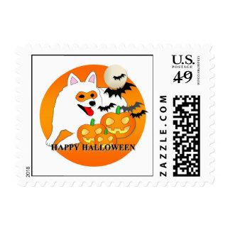 Perro esquimal americano Halloween Sellos Postales