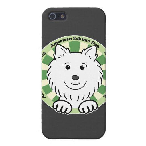 Perro esquimal americano iPhone 5 carcasas