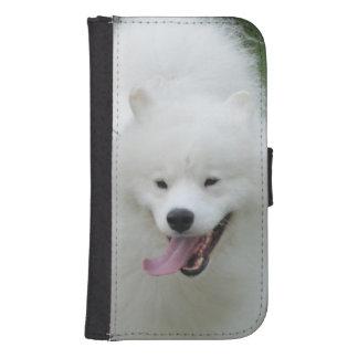 Perro esquimal americano lindo funda cartera para teléfono