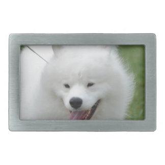 Perro esquimal americano lindo hebillas de cinturón