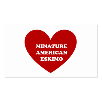 Perro esquimal americano miniatura tarjetas de visita