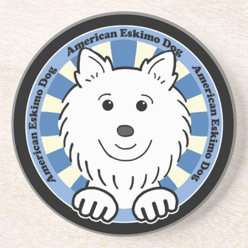 Perro esquimal americano posavasos personalizados