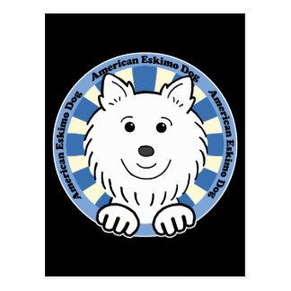 Perro esquimal americano tarjetas postales