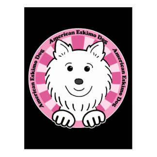 Perro esquimal americano postal