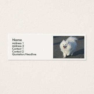 Perro esquimal americano tarjetas de visita mini