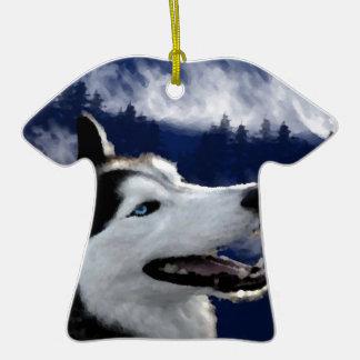 Perro esquimal de Alaska Ornamento Para Arbol De Navidad