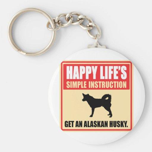 Perro esquimal de Alaska Llavero