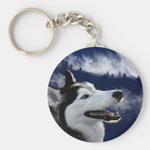 Perro esquimal de Alaska Llaveros Personalizados