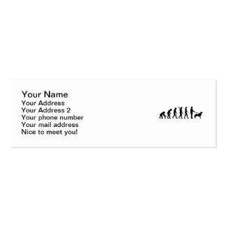 Perro esquimal de la evolución tarjetas de visita mini