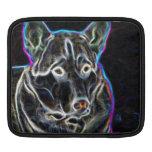 Perro esquimal de neón funda para iPads