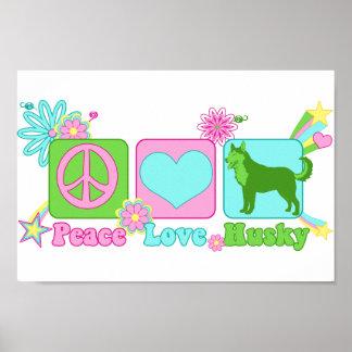 Perro esquimal del amor de la paz impresiones