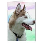 Perro esquimal Notecard de Zayda Tarjetón