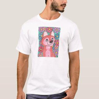 Perro esquimal rojo playera