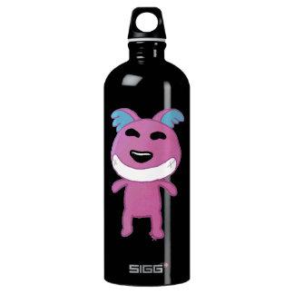 Perro extraño lindo botella de agua