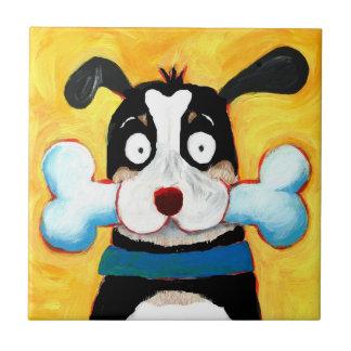 perro feliz tejas  cerámicas