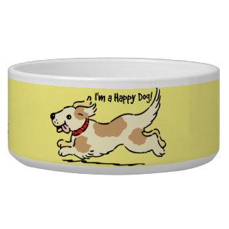 Perro feliz comedero para mascota