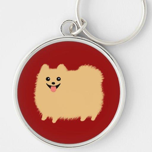 Perro feliz de Pomeranian - Pom lindo estupendo Llaveros