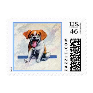 Perro feliz del beagle del jadeo