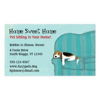 Perro feliz del sofá tarjetas de visita