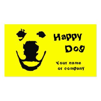 Perro feliz plantilla de tarjeta de visita