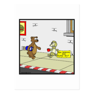 Perro festivo: Dibujo animado del perro Postal