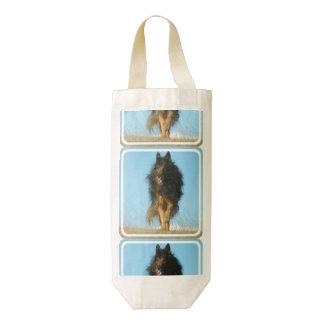Perro finlandés de Lapphund Bolsa Para Botella De Vino Zazzle HEART