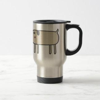 Perro flaco tazas de café