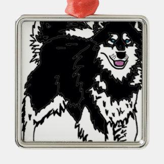 Perro fornido de Alaska Ornamento De Navidad