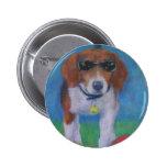 Perro fresco del perro vivaracho pin redondo 5 cm