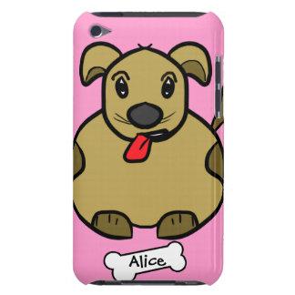 Perro gordo con la caja del hueso funda para iPod de Case-Mate