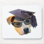 Perro graduado alfombrillas de ratón