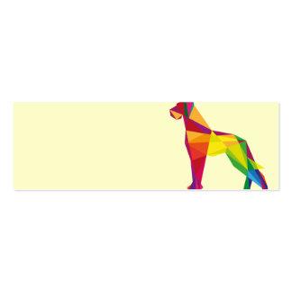 Perro grande abstracto tarjetas de visita mini