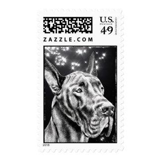 Perro grande de great dane sellos