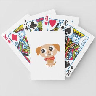 Perro grande de los ojos baraja cartas de poker