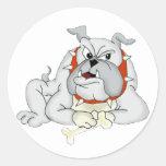 Perro grande pegatina redonda