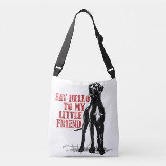 Perro grande, pequeños amigos bolsa cruzada