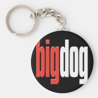 Perro grande. Perro superior. Queso grande. Boss.  Llavero Redondo Tipo Pin