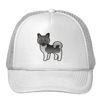 Perro gris de los alces de Elkhound del noruego de Gorros Bordados