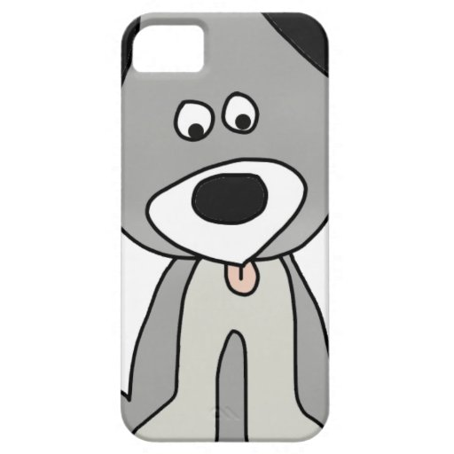 perro gris dulce funda para iPhone 5 barely there