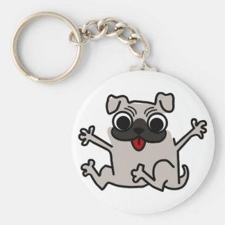 Perro gris/gris del salto del dibujo animado del llavero