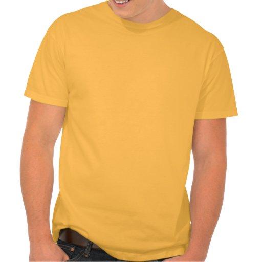 Perro gruñón amarillo-naranja camisetas