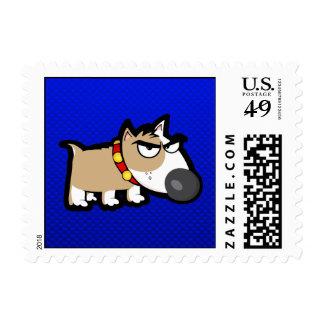 Perro gruñón azul sellos