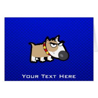 Perro gruñón azul tarjeta de felicitación