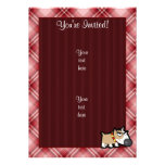 Perro gruñón de la tela escocesa roja comunicado personal