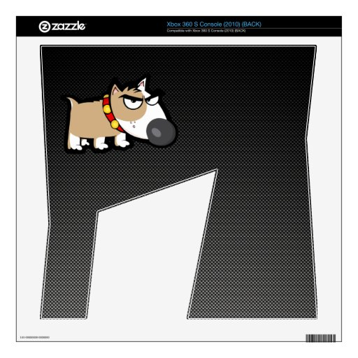 Perro gruñón en liso consola xbox 360 s calcomanía