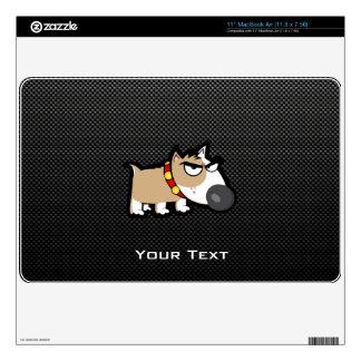 Perro gruñón en liso calcomanías para MacBook