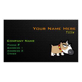 Perro gruñón en liso tarjeta personal