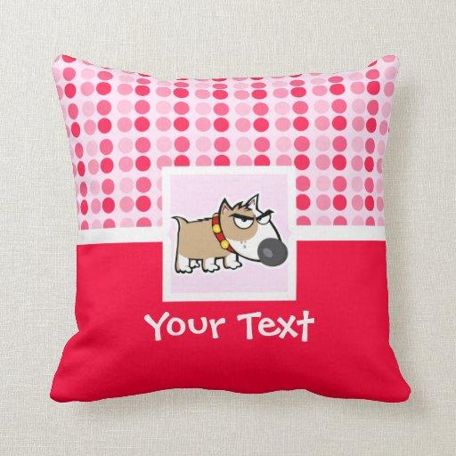 Perro gruñón lindo almohada