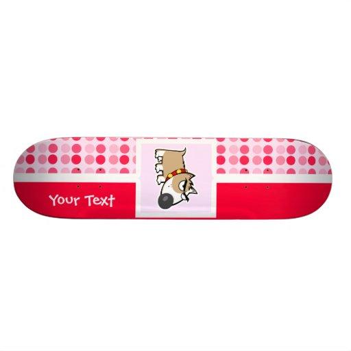 Perro gruñón lindo monopatin personalizado